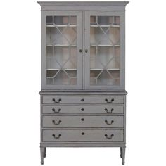 19th Century Swedish Bookcase or Vitrine Cabinet | From a unique collection of antique and modern bookcases at https://www.1stdibs.com/furniture/storage-case-pieces/bookcases/