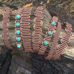 A couple rainy days + waiting on a shipment of wire= woven copper bracelets. Deals on multiples Wire Jewelry Making, Copper Wire Jewelry, Copper Bracelet, Wire Work, Rainy Days, Wire Wrapped Bracelet, Woven Bracelets, Wire Jewelry Designs, Wire Weaving