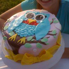 Owl Cake Owl Cakes, Cupcake Cakes, Cupcakes, Owl Birthday Parties, Birthday Cakes, Owl Desserts, Cake Decorations, Yummy Snacks, Cake Ideas