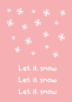"""Kerstkaart  pastel let it snow Kerstkaart pastelmet de quote """" Let it snow"""" van Studio Inktvis.Met onze pastelkleurige kerstkaart valt u pas echt op. [ssba]..."""
