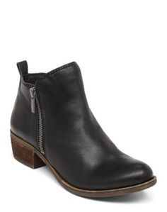 Basel Flat Bootie | Lucky Brand the perfect simple black ankle boot. REAL LEATHER LOVE!