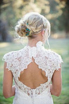 bohem braid bridal hair