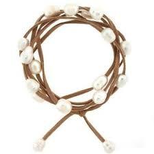 leather & pearl wrap bracelet