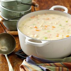 Cheesy Chicken Chowder Recipe -I like to serve this hearty chowder with garlic bread and a salad. It's a wonderful dish to prepare when company drops in. The rich, mild flavor and tender chicken and vegetables appeal even to children and picky eaters. —Hazel Fritchie, Palestine, Illinois