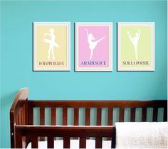 Ballet term prints - Would love these for K's room