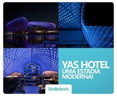 O hotel Yas, em Abu Dhabi, tem uma cobertura de lâmpadas LED gigantesca, com 217 metros de extensão! O projeto é da empresa norte-americana Asymptote Architects. Quer trazer esse efeito para a sua casa?