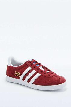 74add4d5434 adidas Originals Gazelle Maroon Trainers Red Shoes