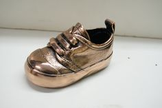 Beautiful bronzed baby shoe! Keep sake of your babies first shoes! www.bronzery.com