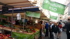 Bio food in Aligre maket. Bio Food, Marketing, Products