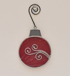 ROUND CHRISTMAS ORNAMENT Hand Made Textured Deep by SoleilByDesign, $13.00