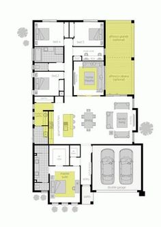 View the floor plans available for the Metala home design by McDonald Jones. 4 Bedroom House Plans, Bungalow House Plans, New House Plans, Dream House Plans, Small House Plans, Duplex Floor Plans, Home Design Floor Plans, House Floor Plans, House Plans Australia