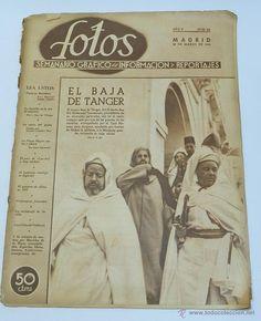 FOTOS - SEMANARIO GRAFICO Nº 212 AÑO 1941 - EL BAJA DE TANGER, PRISIONEROS FRANCESES, TROPAS ALEMANE