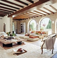 Wondrous Luxury Living Room Interior Design - Page 38 of 46 Spanish Style Homes, Spanish House, Spanish Revival, Home Interior Design, Interior Architecture, Room Interior, Luxury Interior, Luxury Furniture, Spanish Architecture