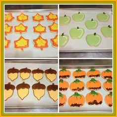 Autumn Sugar Cookies #sugarcookies #autumn #fall #royalicing www.heaveninhellcakes.com Autumn Fall, Royal Icing, Sugar Cookies, Sugar Cookie Bars