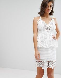 A gorgeous dress for brides, brides-to-be or a bachelorette party! White is the perfect dress of the season! #asseenonme @asos_us