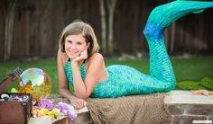 Aussie Green Mermaid Tail (Kate wants one of these for swimming)