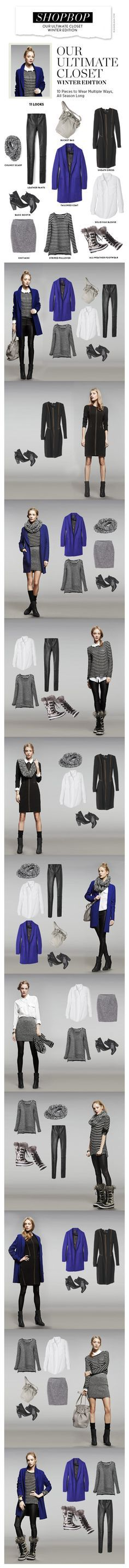 11 looks from 10 pieces - via Shopbop - Our Ultimate Closet – Winter Edition