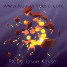 Flash FX Animation: The Animated FX Work of Jason Keyser - Part 1