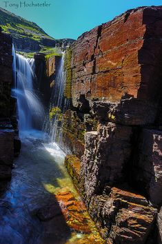 Reynolds Falls - Glacier National Park - Montana, USA