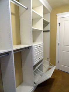 built in hamper. Holy Craft: Master closet reveal