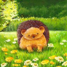 Hey, I found this really awesome Etsy listing at https://www.etsy.com/listing/95895125/art-for-nursery-happy-hedgehog-print