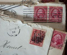I love old letters, wax, seals and old fashioned handwriting!