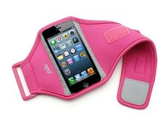 iPhone Armbands That Keep You Moving: In a sea of black armbands, this pink Sporteer armband ($25) will stand out. It also helps that it features adjustable straps and inner slots to hold your cash, credit cards, and more.