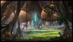 Mushroom Glade by Chris-Karbach.deviantart.com on @deviantART