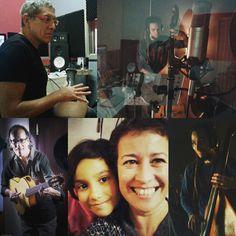 Proyecto Afluentes con la compañera Julia, en proceso de grabación en Sonariola. Barcelona Nov, 2015