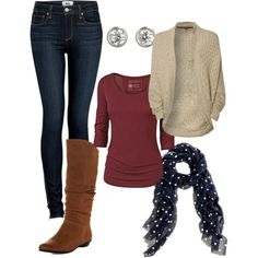 Tall boots, chunky sweaters! Fall Happiness