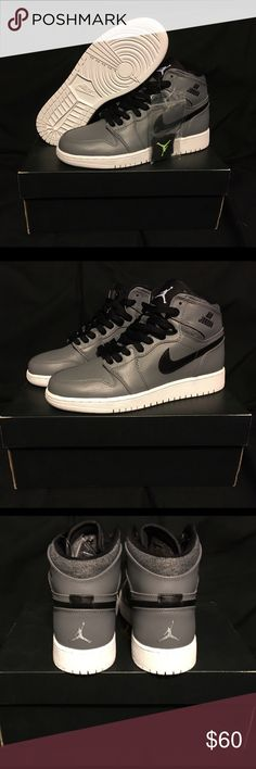 🎁 Jordan Retro 1 High BG 🆕 5.5 Y Completely new in box. Leather high tops with black trim. Jordan Shoes Sneakers