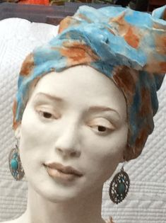 Female Head, Female Art, Sculpture Head, Ceramic Sculptures, Clay Figures, Woman Face, Ceramic Art, Altered Art, Sculpting