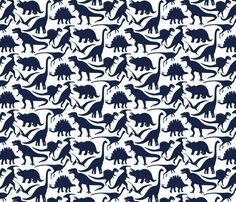 Little Dinosaur Friends Indigo fabric by jillbyers on Spoonflower - custom fabric Dinosaur Bedding, Dinosaur Fabric, Boys Room Wallpaper, Friends Wallpaper, Custom Wallpaper, Fabric Wallpaper, Custom Printed Fabric, Printing On Fabric, Litle Boy