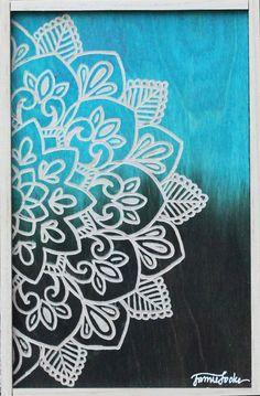 Mandala Art, Simple Mandala Tattoo, Mandala Drawing, Mandala Painting, Mandala On Canvas, Diy Wall Art, Diy Art, Butterfly Drawing, Indian Folk Art