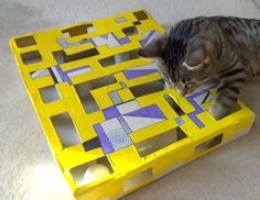 Intelligenzspielzeug fuer Katzen selbstgemacht