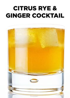 ... enjoy this Citrus Rye and Ginger Cocktail. #BiteMeMore #drink #recipes