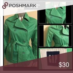 Gap Teal Coat The coat is great for fall. It has a waist strap. Jackets & Coats