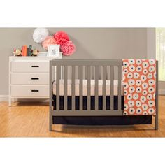 Love the grey. Diff fron usual wood or white. Baby Mod - Modena 3-in-1 Fixed Side Crib (Choose Your Finish)