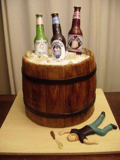 My beer barrel cake