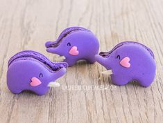 "Oh my! These too cute elephant macarons from Rasberri Cupcakes have got us all in a tizz! Our minds are saying ""aawww...how cute!"" but our belly's are saying ""Yum!...you look delicious!""."