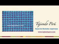 Cómo tejer un cuadrado de dos colores en telar de mesa cuadrado - YouTube