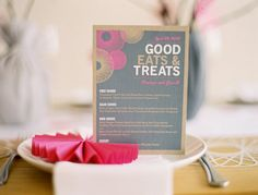 interesting colour combination - grey, pink and natural kraft