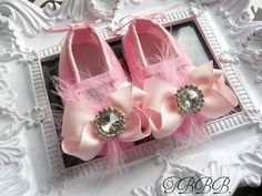 """(via Baby Shoes for """"Chanel"""" in pink and silver 