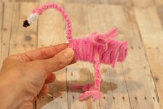 How to Make a Pipe Cleaner Flamingo Tutorial – Factory Direct Craft Blog
