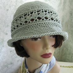 Womens Summer Crochet Hat Pattern With Brimmed With Mesh Band PDF Instant Download on Etsy, $4.50