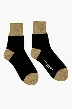 COMME DES GARÇONS Gold Lurex Socks