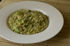 Risotto all'avocado e rum