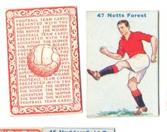 FOOTBALL PICTURE CARD 47 ISSUED BY  DC THOMPSON SHOWING NOTTS FOREST c1934 ie.picclick.com