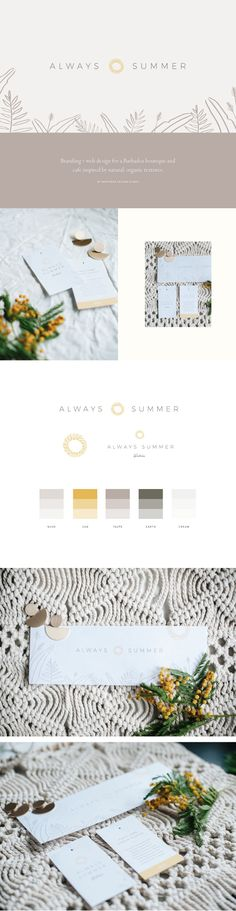 Branding for Always Summer by Wayfarer Design Studio // design, branding, brand, brand identity, logo, logos, graphic design, identity, lettering, hand lettering, Barbados, boutique, fashion, clothing, home goods, ethical shopping