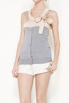 Marni Nude And Grey Top Wonder if I could make something simular